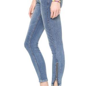 Free people zipper ankle skinny jeans 27